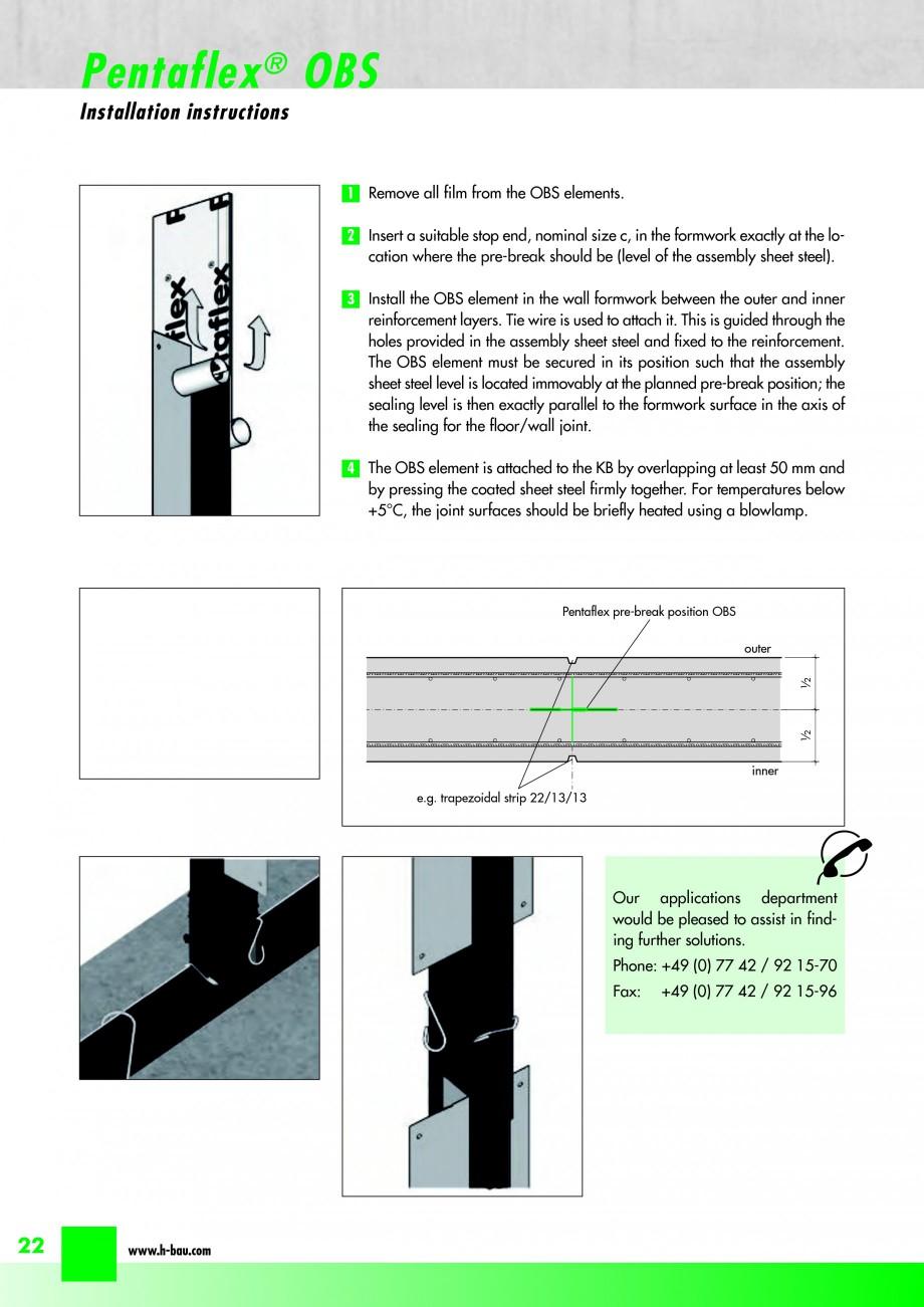 Pagina 24 - Hidroizolatie pentru rosturi de turnare H-BAU Technik PENTAFLEX Catalog, brosura Engleza...