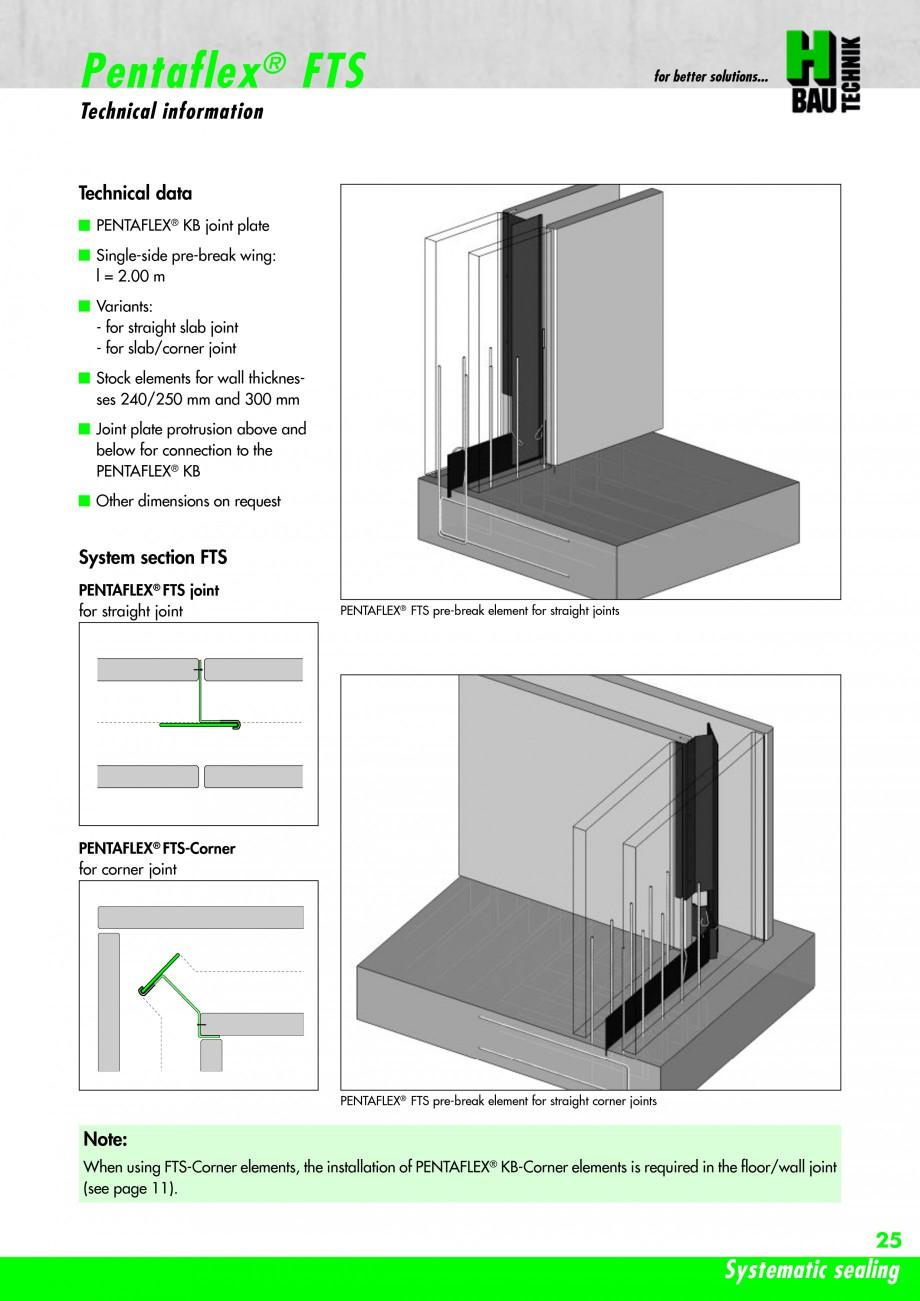 Pagina 27 - Hidroizolatie pentru rosturi de turnare H-BAU Technik PENTAFLEX Catalog, brosura Engleza...