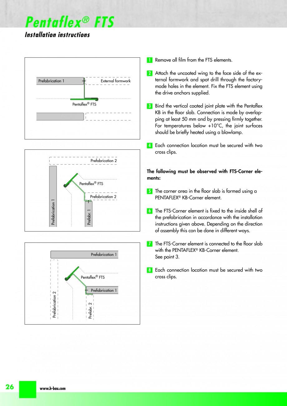 Pagina 28 - Hidroizolatie pentru rosturi de turnare H-BAU Technik PENTAFLEX Catalog, brosura Engleza...