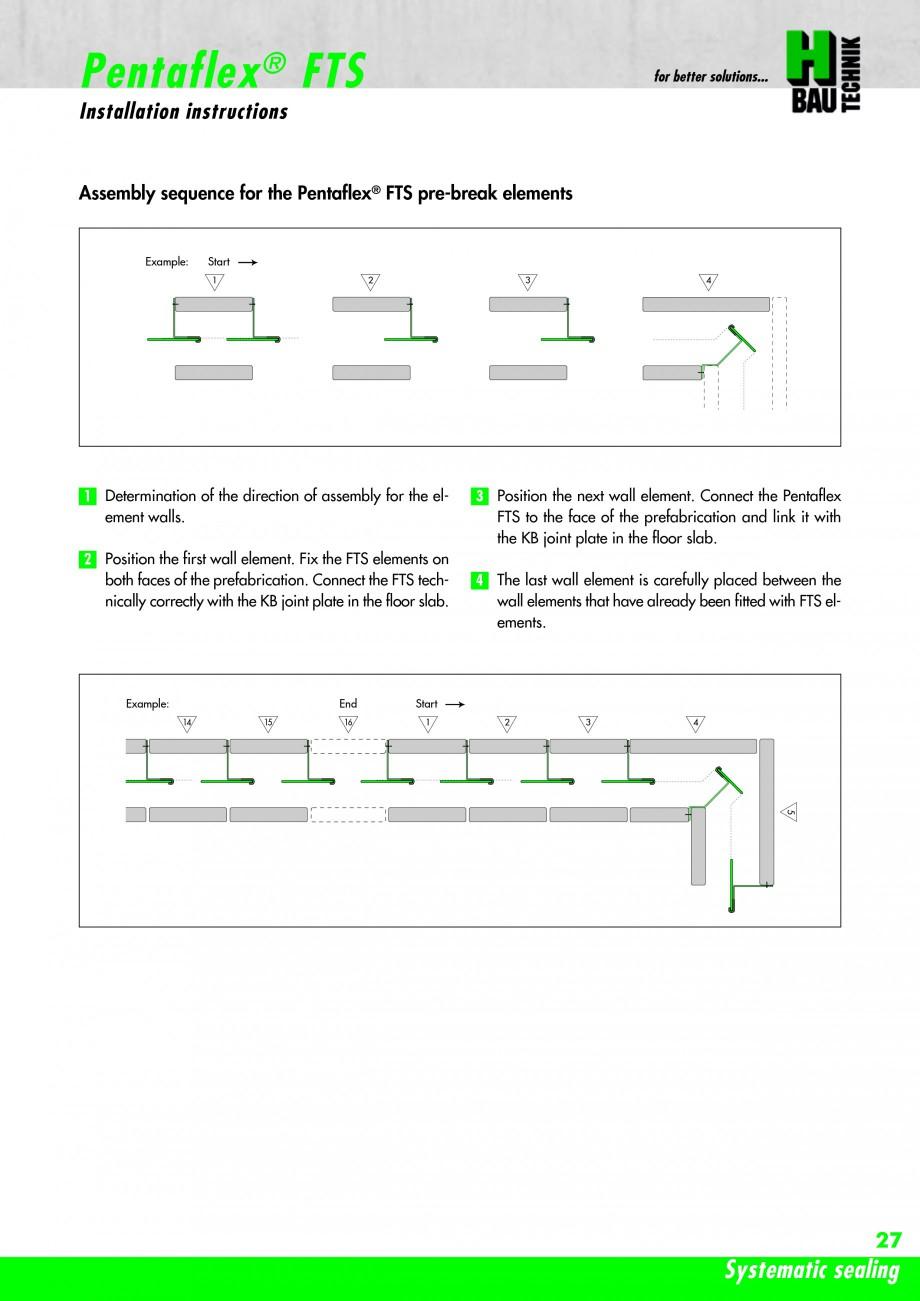 Pagina 29 - Hidroizolatie pentru rosturi de turnare H-BAU Technik PENTAFLEX Catalog, brosura Engleza...
