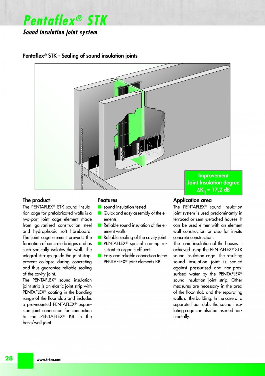 Pagina 30 - Hidroizolatie pentru rosturi de turnare H-BAU Technik PENTAFLEX Catalog, brosura Engleza...