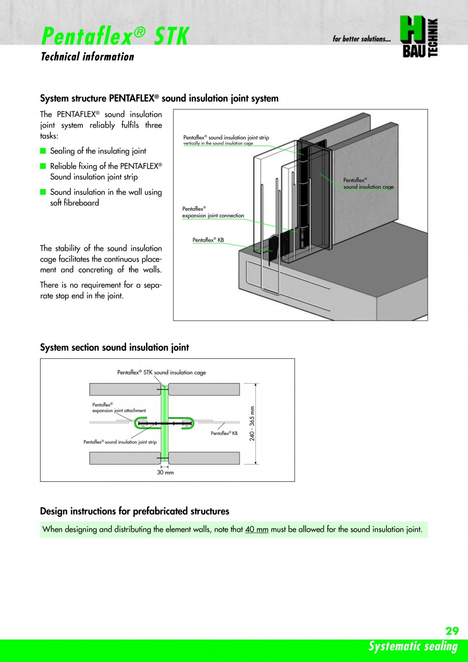 Pagina 31 - Hidroizolatie pentru rosturi de turnare H-BAU Technik PENTAFLEX Catalog, brosura Engleza...