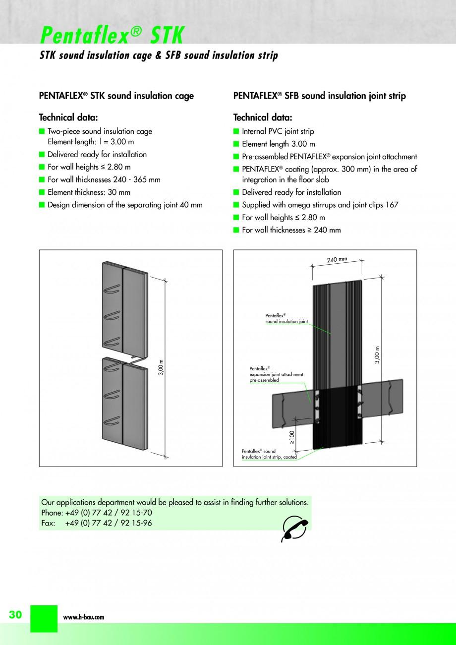 Pagina 32 - Hidroizolatie pentru rosturi de turnare H-BAU Technik PENTAFLEX Catalog, brosura Engleza...