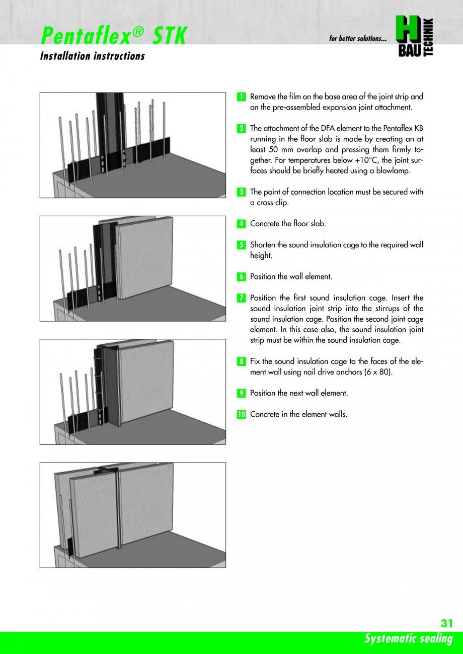 Pagina 33 - Hidroizolatie pentru rosturi de turnare H-BAU Technik PENTAFLEX Catalog, brosura Engleza...