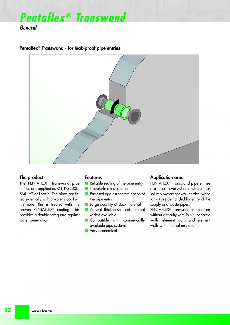 Pagina 34 - Hidroizolatie pentru rosturi de turnare H-BAU Technik PENTAFLEX Catalog, brosura Engleza...