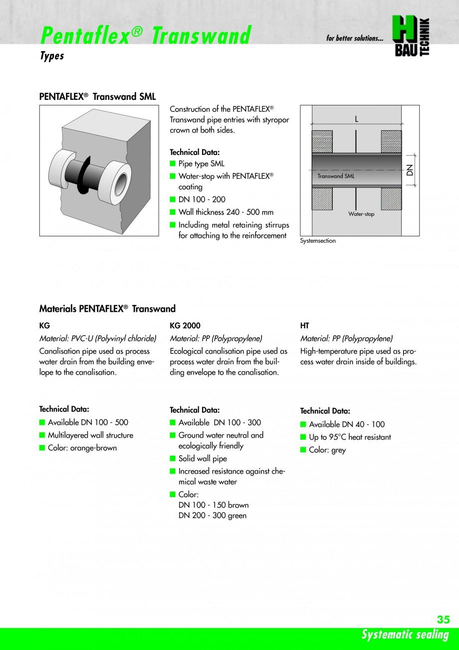 Pagina 37 - Hidroizolatie pentru rosturi de turnare H-BAU Technik PENTAFLEX Catalog, brosura Engleza...