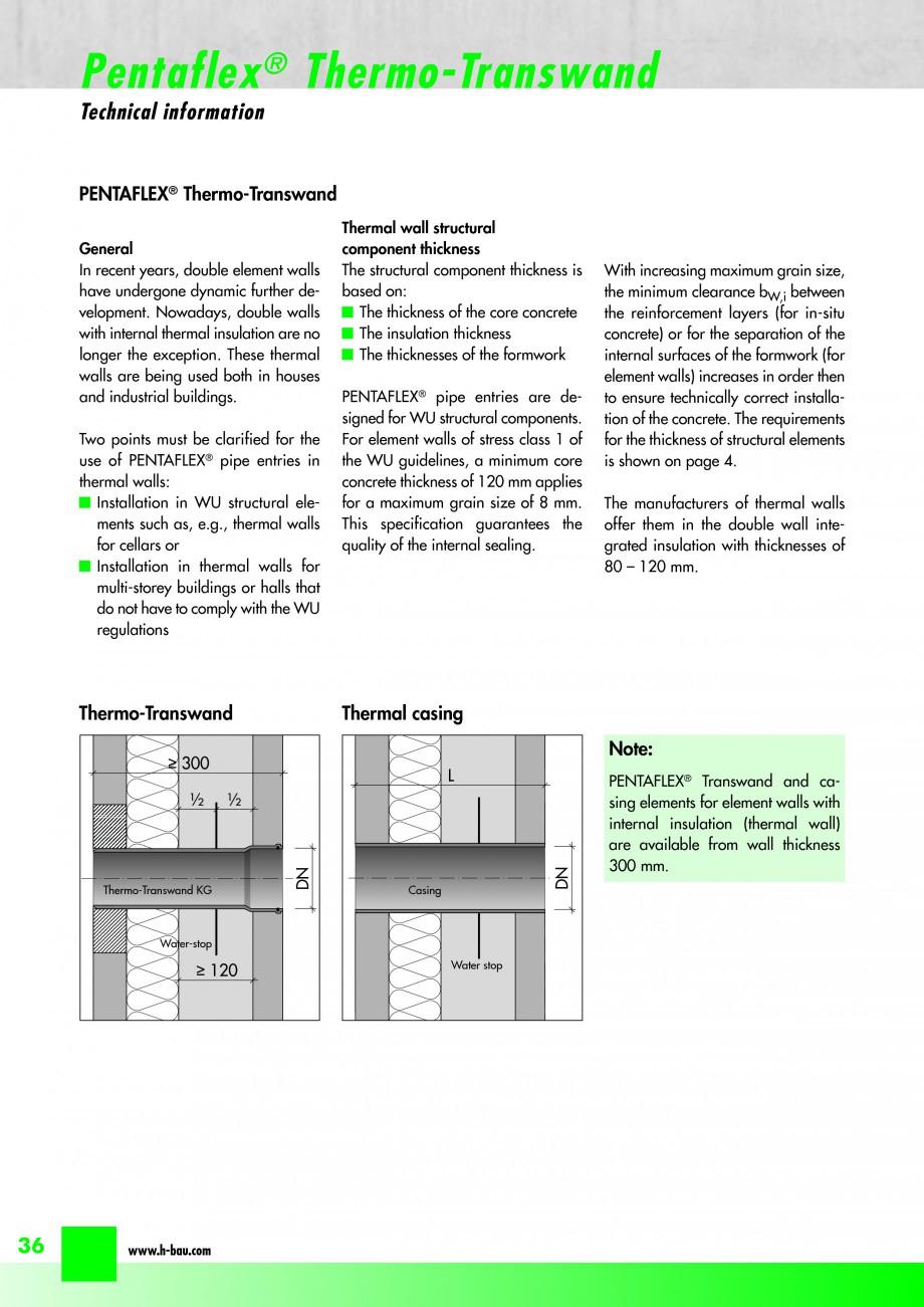 Pagina 38 - Hidroizolatie pentru rosturi de turnare H-BAU Technik PENTAFLEX Catalog, brosura Engleza...