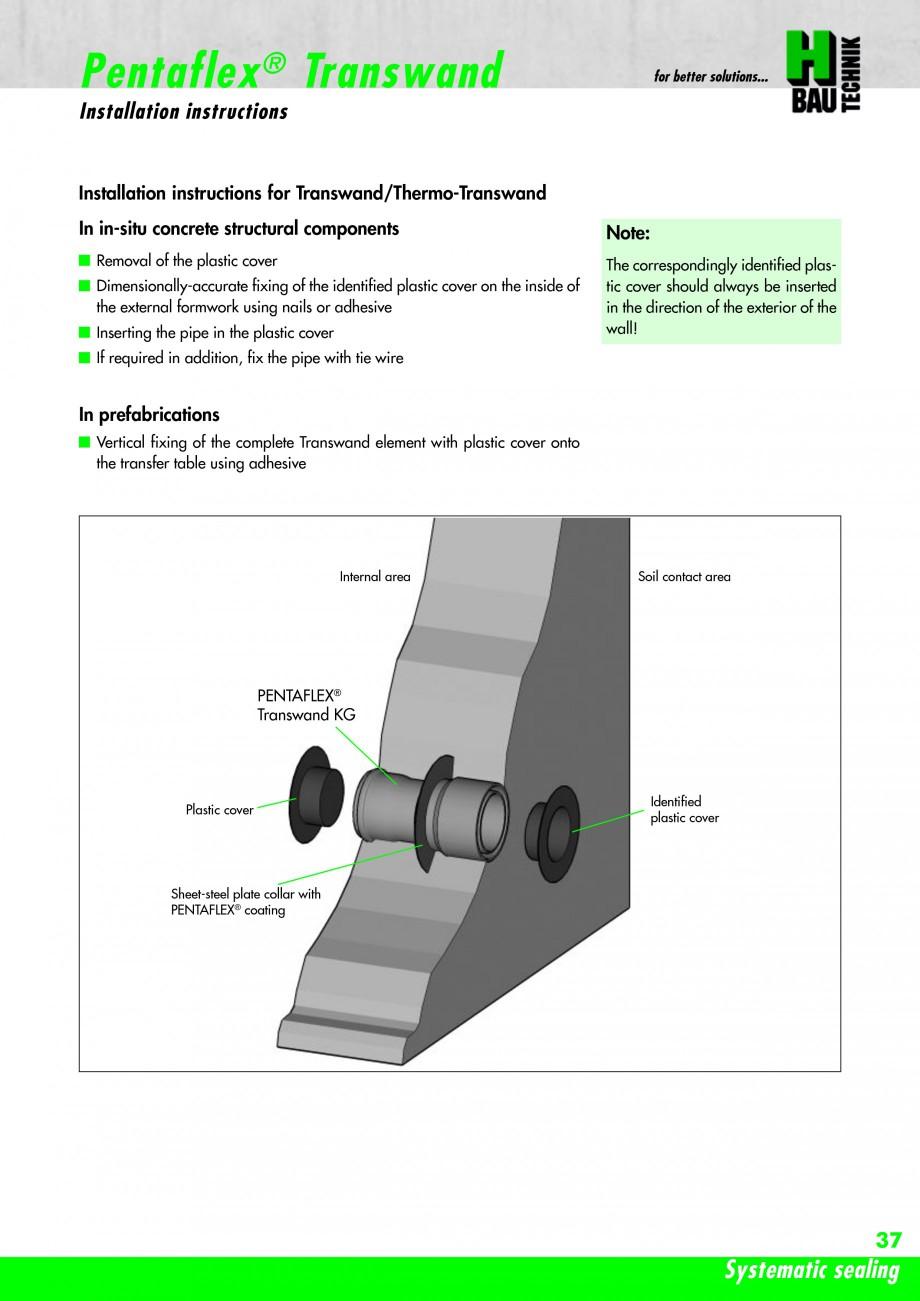 Pagina 39 - Hidroizolatie pentru rosturi de turnare H-BAU Technik PENTAFLEX Catalog, brosura Engleza...