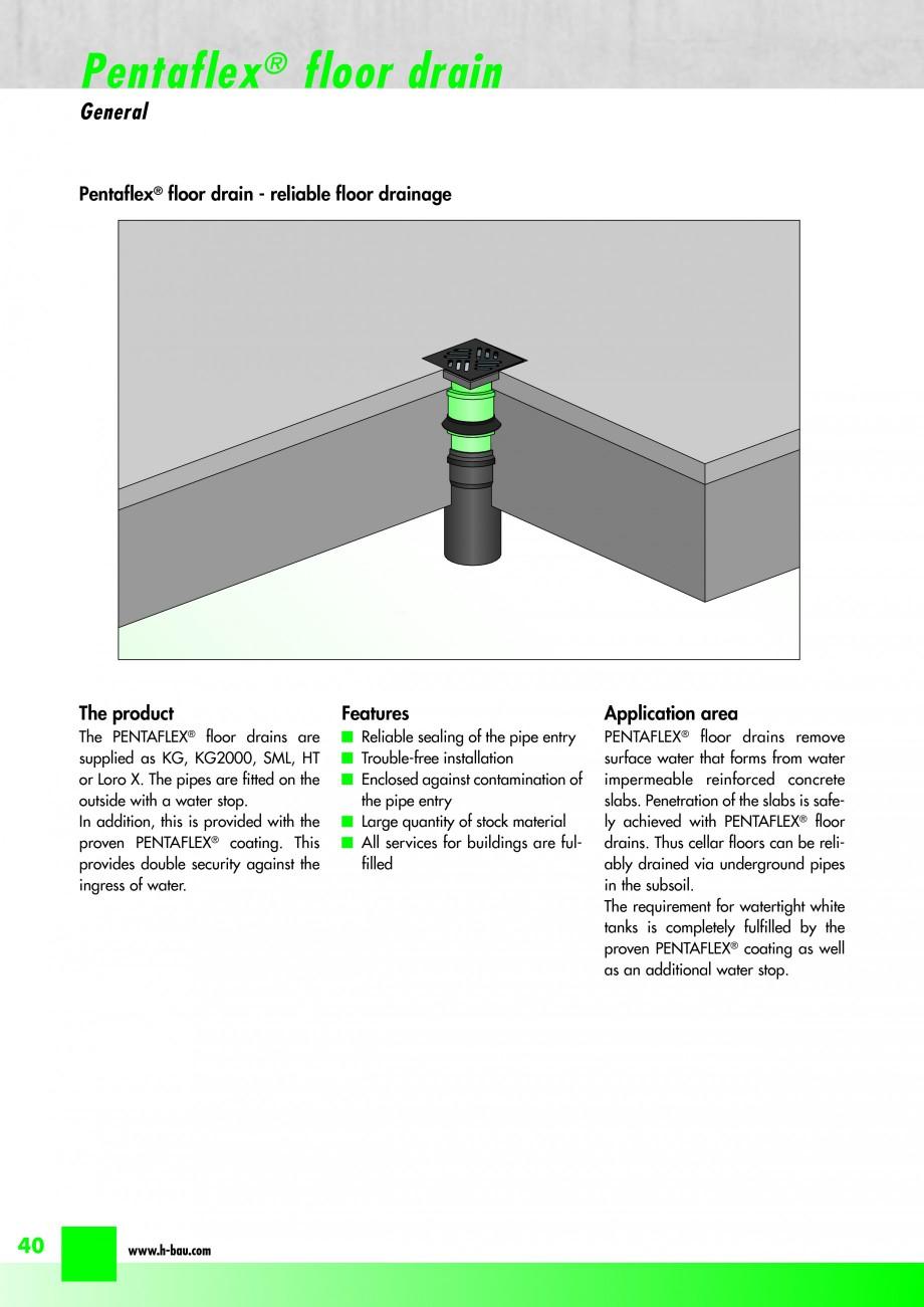 Pagina 42 - Hidroizolatie pentru rosturi de turnare H-BAU Technik PENTAFLEX Catalog, brosura Engleza...
