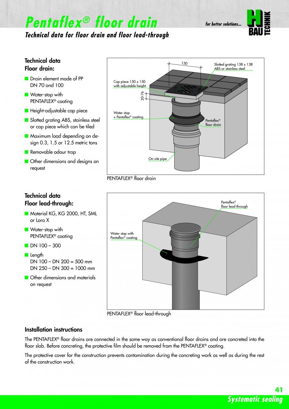 Pagina 43 - Hidroizolatie pentru rosturi de turnare H-BAU Technik PENTAFLEX Catalog, brosura Engleza...