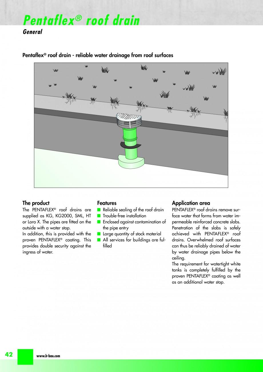 Pagina 44 - Hidroizolatie pentru rosturi de turnare H-BAU Technik PENTAFLEX Catalog, brosura Engleza...