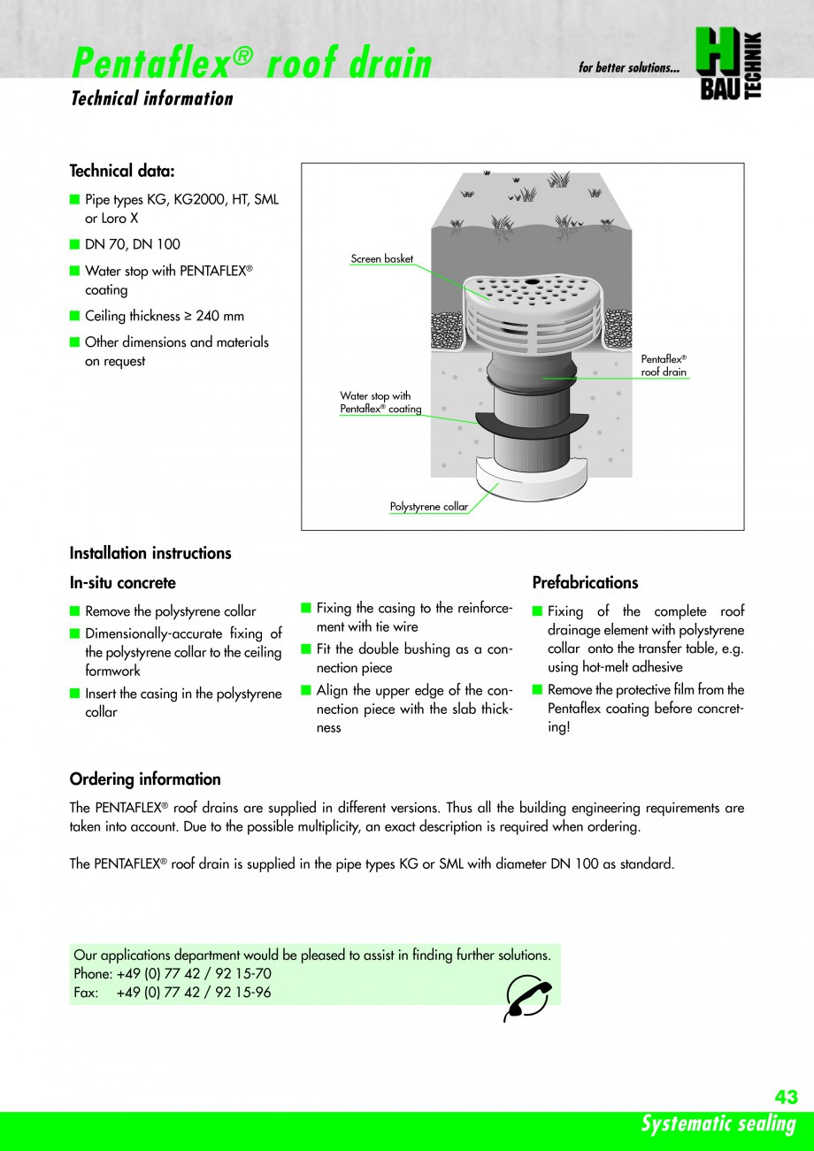 Pagina 45 - Hidroizolatie pentru rosturi de turnare H-BAU Technik PENTAFLEX Catalog, brosura Engleza...
