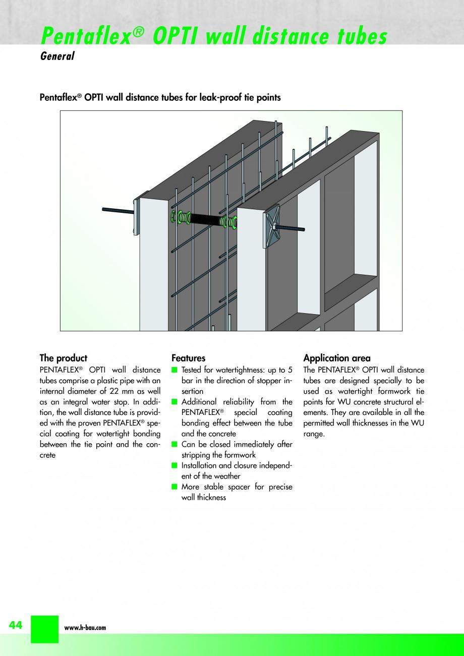 Pagina 46 - Hidroizolatie pentru rosturi de turnare H-BAU Technik PENTAFLEX Catalog, brosura Engleza...