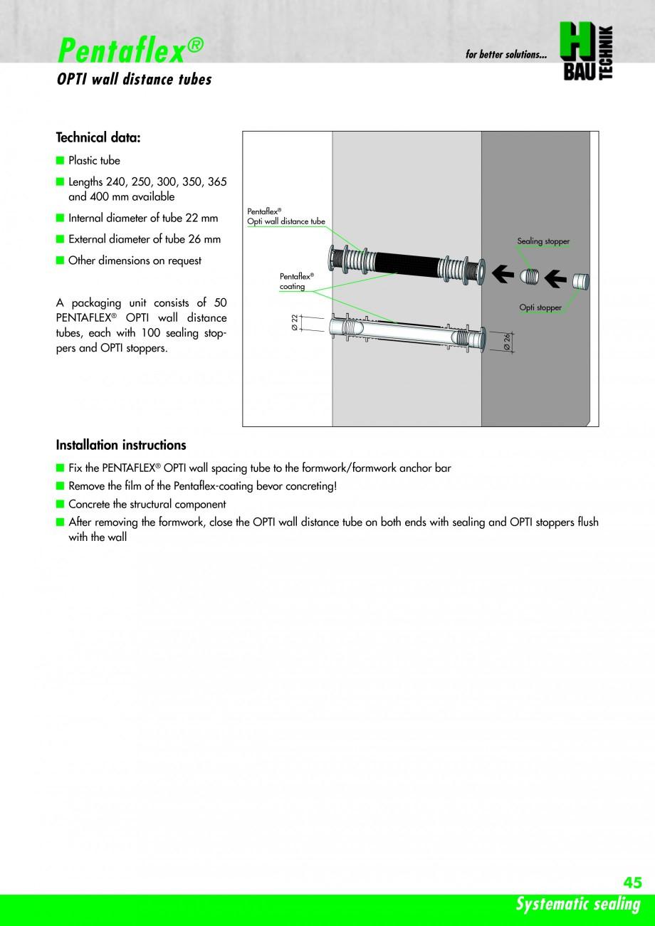 Pagina 47 - Hidroizolatie pentru rosturi de turnare H-BAU Technik PENTAFLEX Catalog, brosura Engleza...