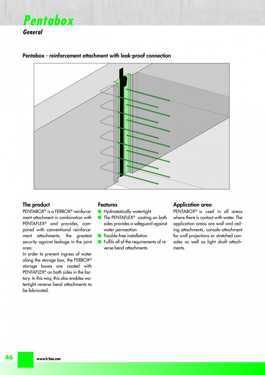 Pagina 48 - Hidroizolatie pentru rosturi de turnare H-BAU Technik PENTAFLEX Catalog, brosura Engleza...