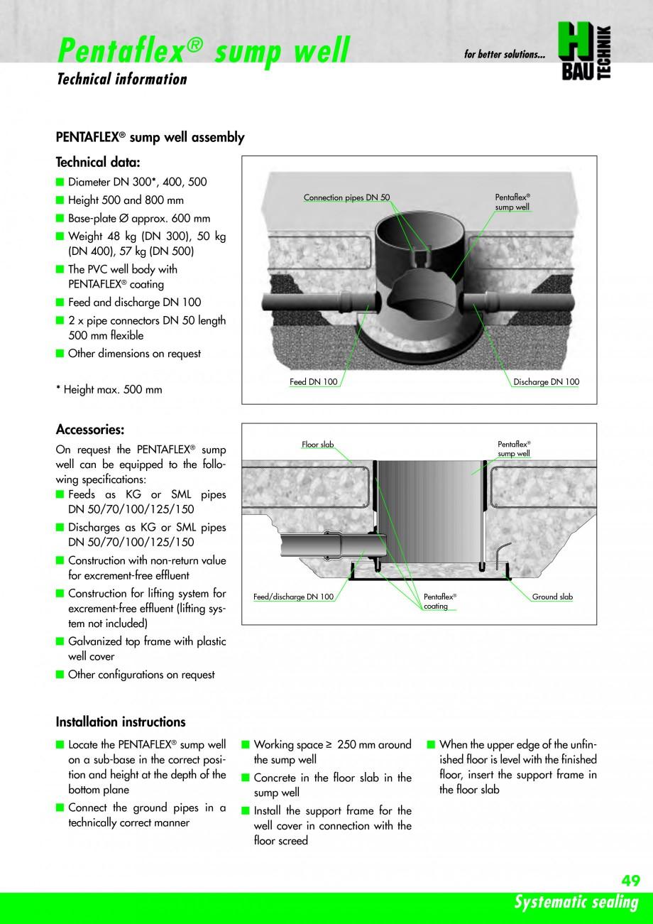 Pagina 51 - Hidroizolatie pentru rosturi de turnare H-BAU Technik PENTAFLEX Catalog, brosura Engleza...