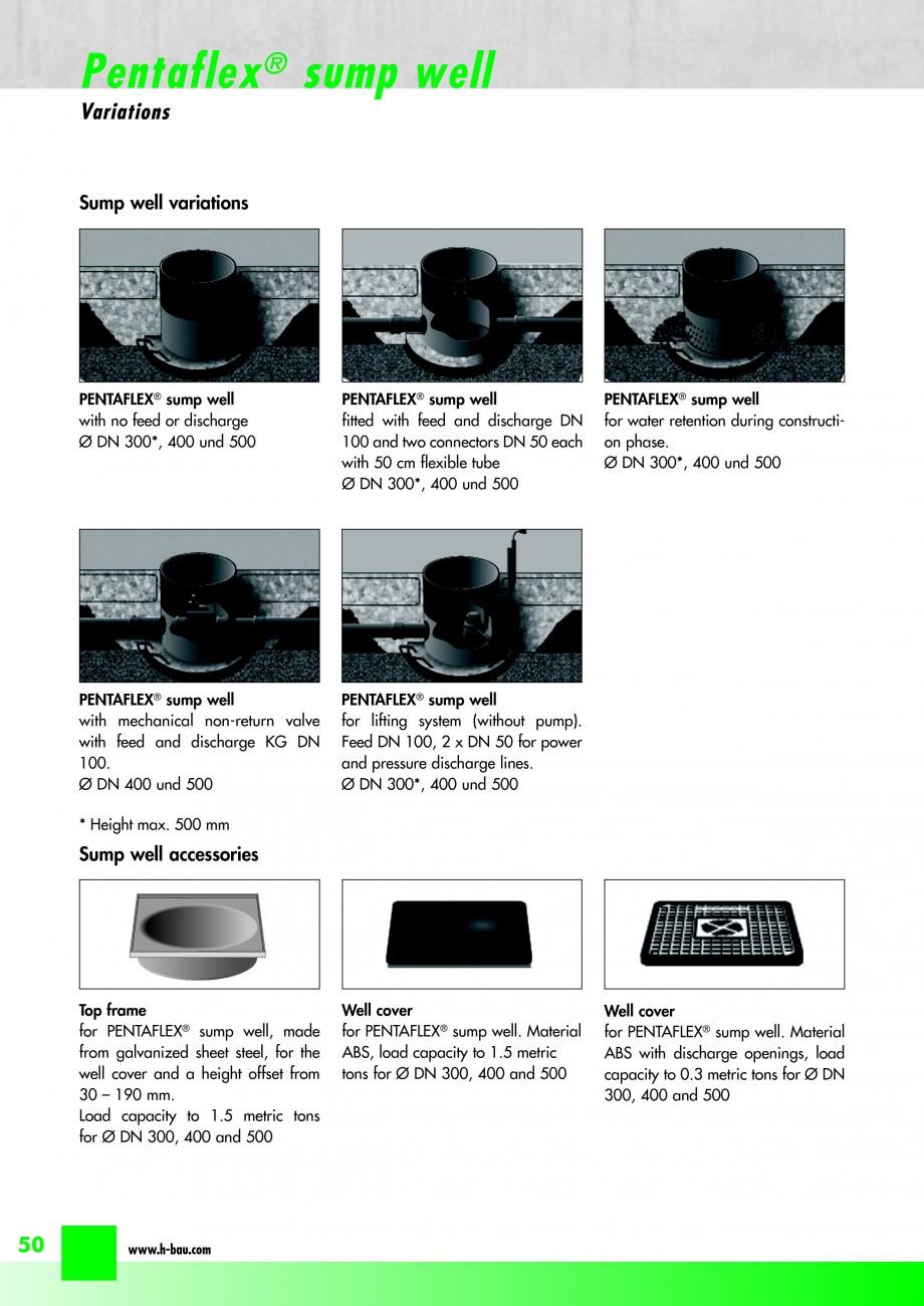 Pagina 52 - Hidroizolatie pentru rosturi de turnare H-BAU Technik PENTAFLEX Catalog, brosura Engleza...