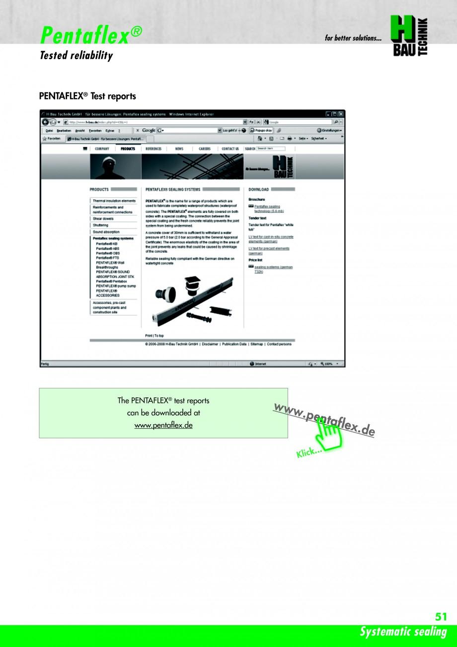 Pagina 53 - Hidroizolatie pentru rosturi de turnare H-BAU Technik PENTAFLEX Catalog, brosura Engleza...