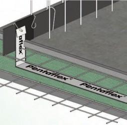 Hidroizolatie pentru rosturi de turnare - PENTAFLEX Sistemul de hidroizolare PENTAFLEX KB se utilizeaza pentru etansarea rosturilor de turnare la elemente de constructii din beton impermeabil, situate deasupra sau sub nivelul terenului.