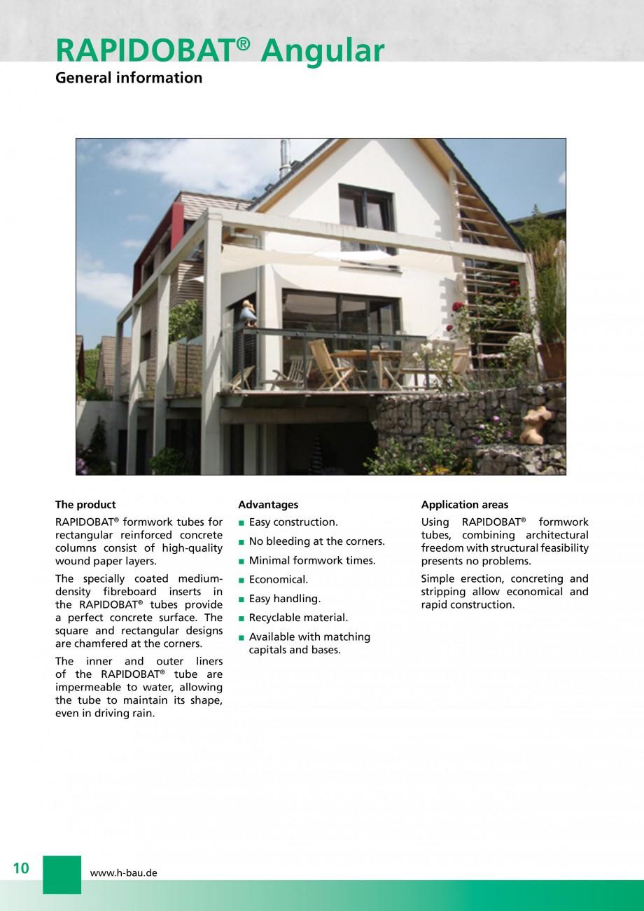 Pagina 10 - Cofraje circulare - RAPIDOBAT H-BAU Technik Fisa tehnica Engleza compliant with the DBV ...