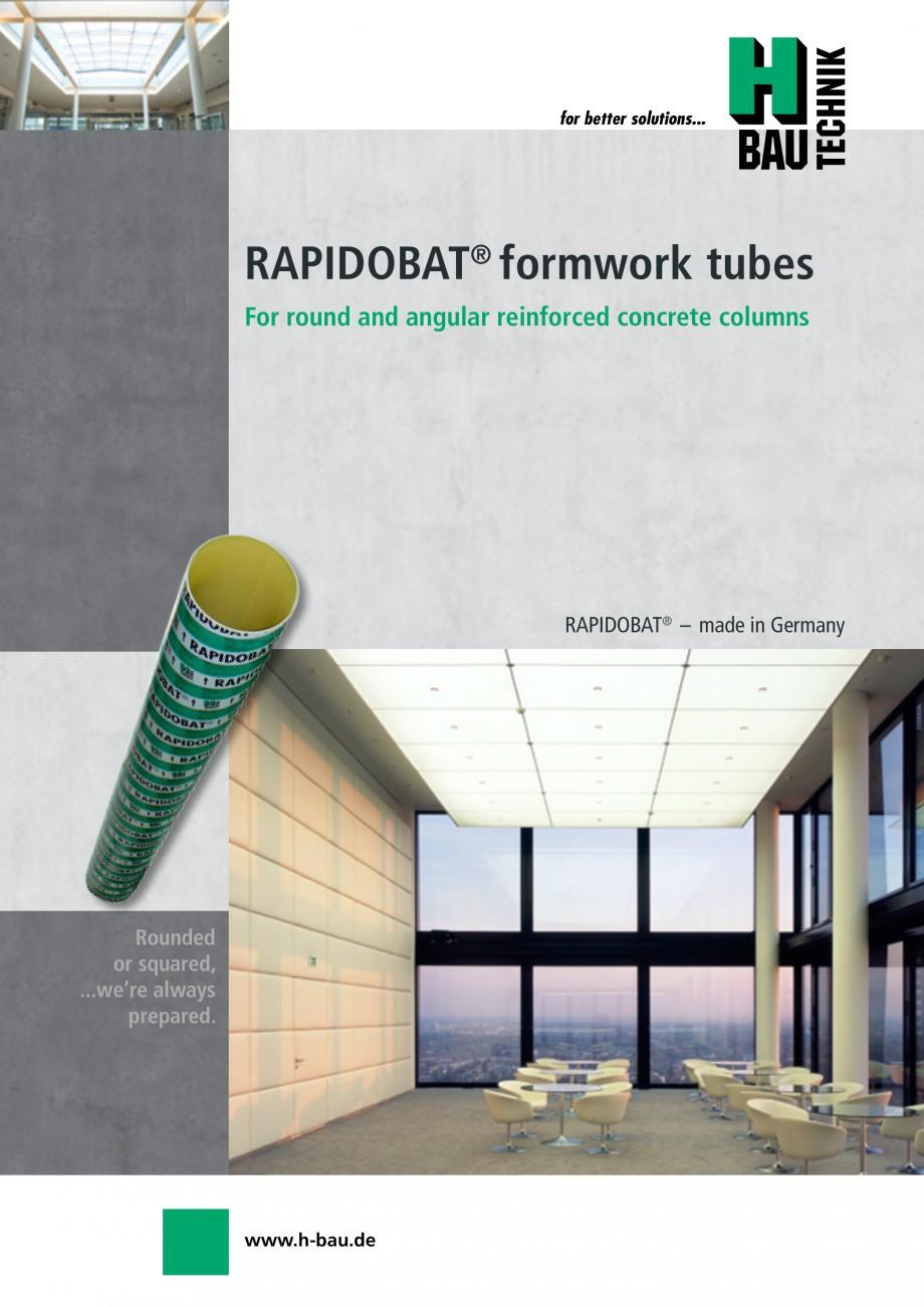 Pagina 1 - Cofraje circulare - RAPIDOBAT H-BAU Technik Fisa tehnica Engleza for better solutions... ...