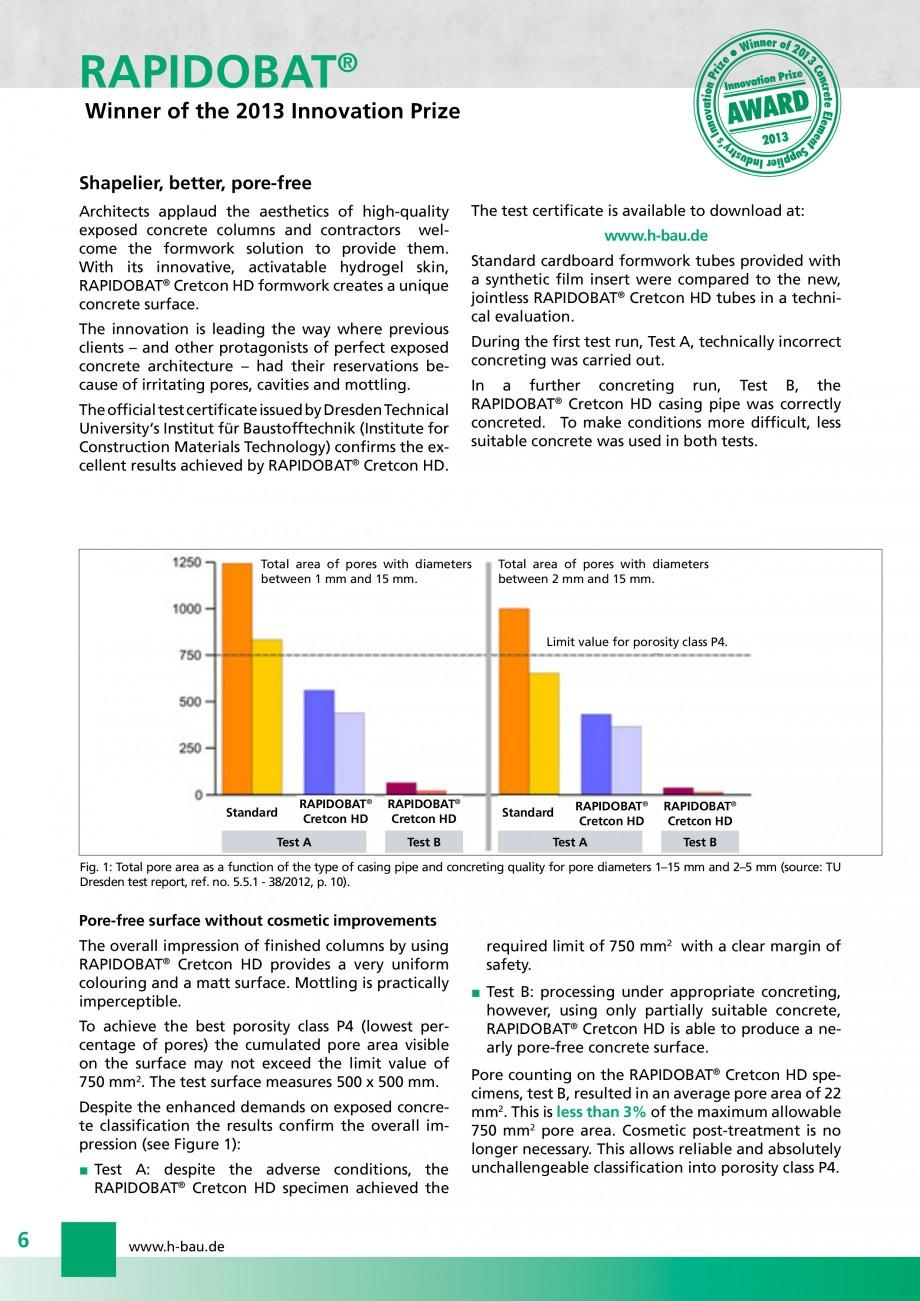 Pagina 6 - Cofraje circulare - RAPIDOBAT H-BAU Technik Fisa tehnica Engleza p ry tS  Shapelier,...
