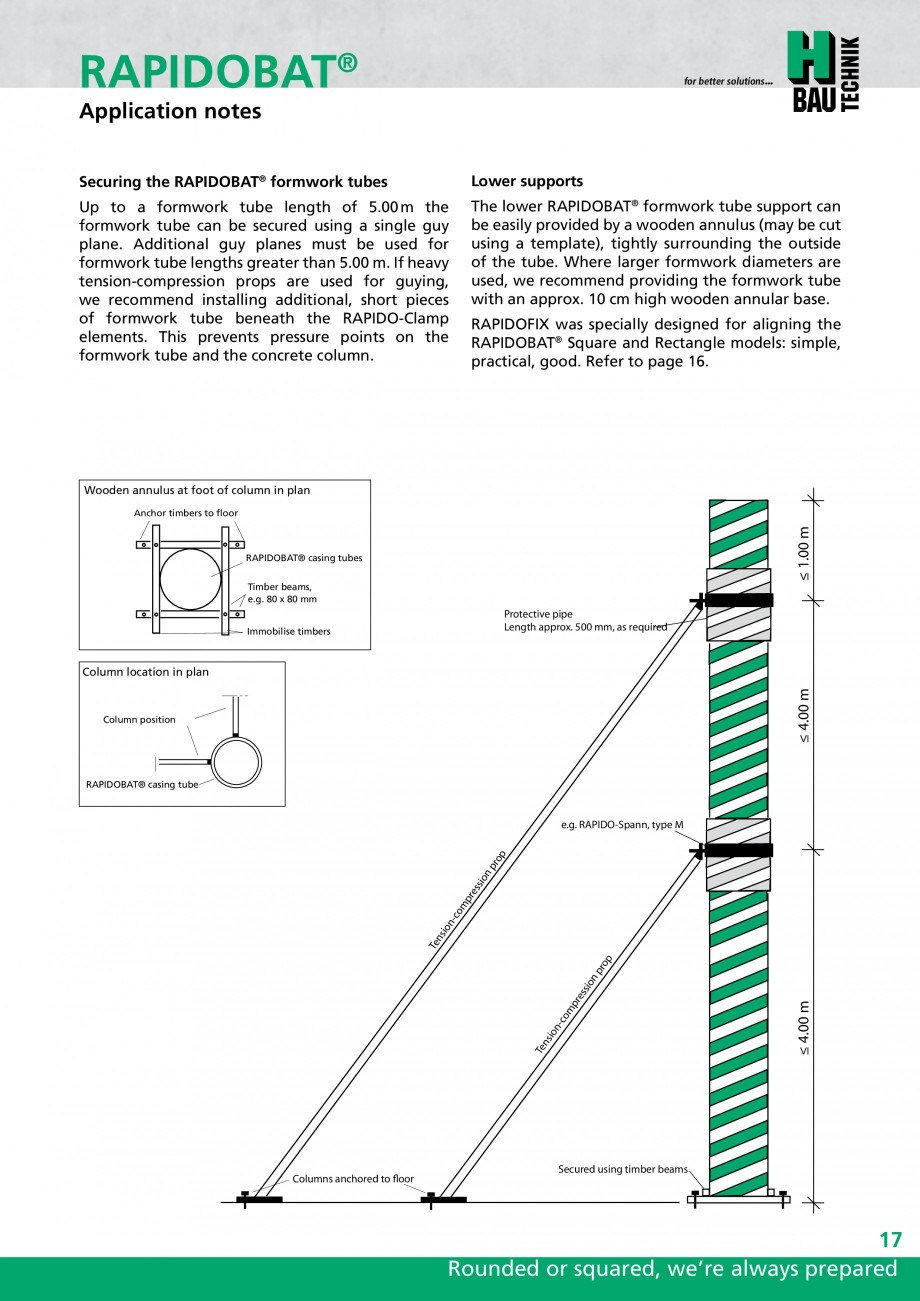 Pagina 17 - Cofraje circulare - RAPIDOBAT H-BAU Technik Fisa tehnica Engleza forced concrete columns...