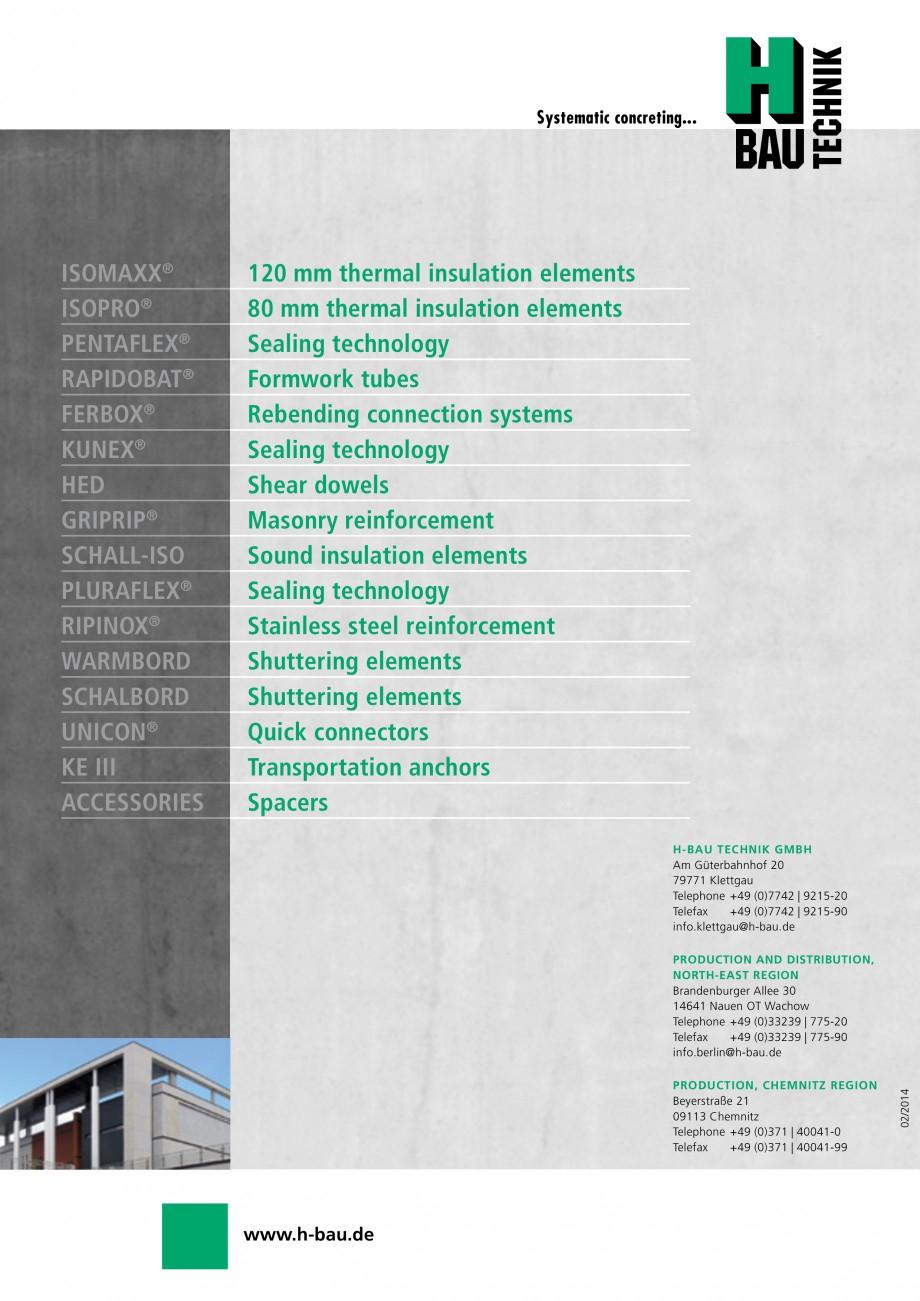 Pagina 24 - Cofraje circulare - RAPIDOBAT H-BAU Technik Fisa tehnica Engleza ion  RAPIDOBAT® casing...