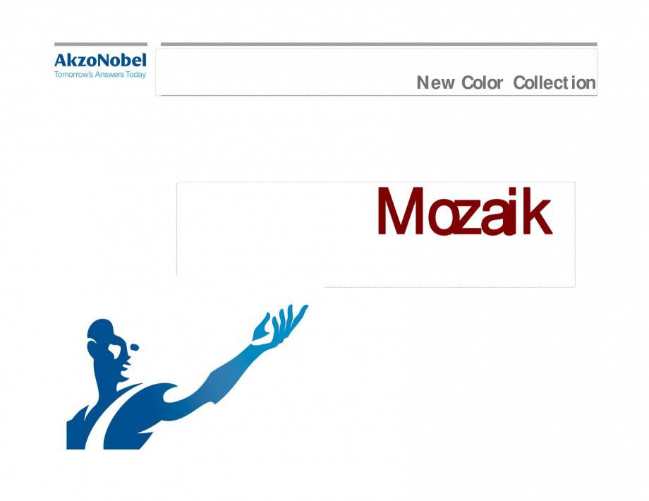 Pagina 1 - Prezentare vopsele pulberi INTERPON Mozaik Catalog, brosura Engleza New Color Collection ...