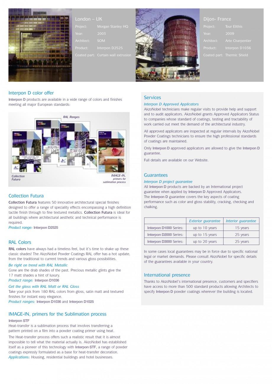 Pagina 5 - Vopsele pulberi INTERPON Interpon D Anodic, Interpon D Collection 225, Interpon D...