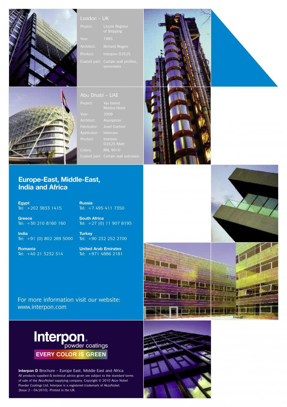Pagina 6 - Vopsele pulberi INTERPON Interpon D Anodic, Interpon D Collection 225, Interpon D...