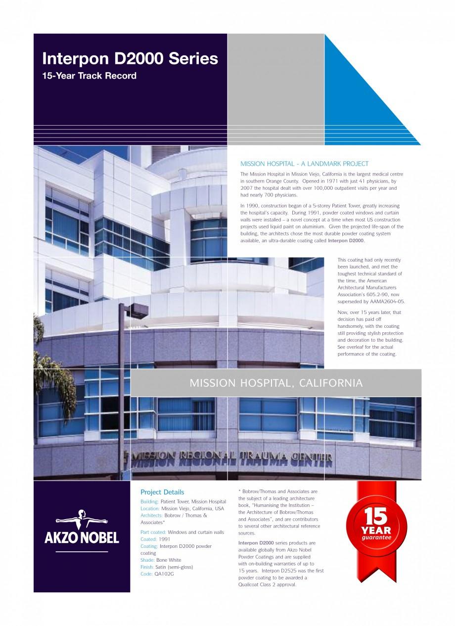 Pagina 1 - Referinte internationale - vopsele pulberi INTERPON Interpon D2000 Series Lucrari,...