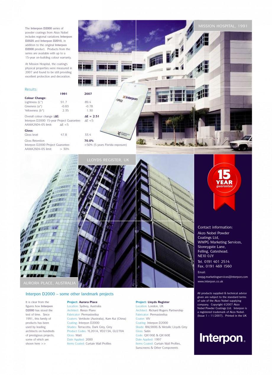 Pagina 2 - Referinte internationale - vopsele pulberi INTERPON Interpon D2000 Series Lucrari,...