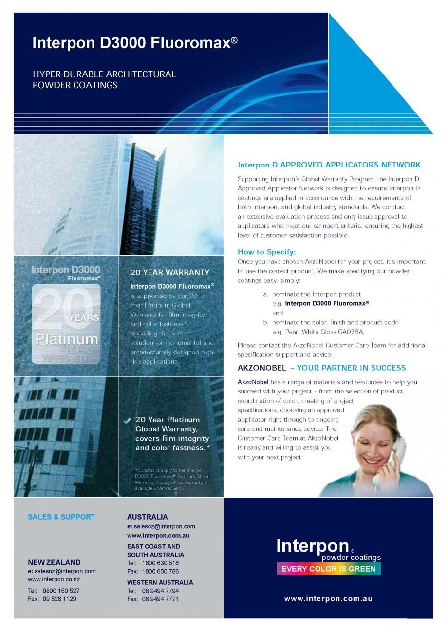 Pagina 4 - Vopsele pulberi INTERPON Interpon D3000 - Fluoromax Catalog, brosura Engleza 00...