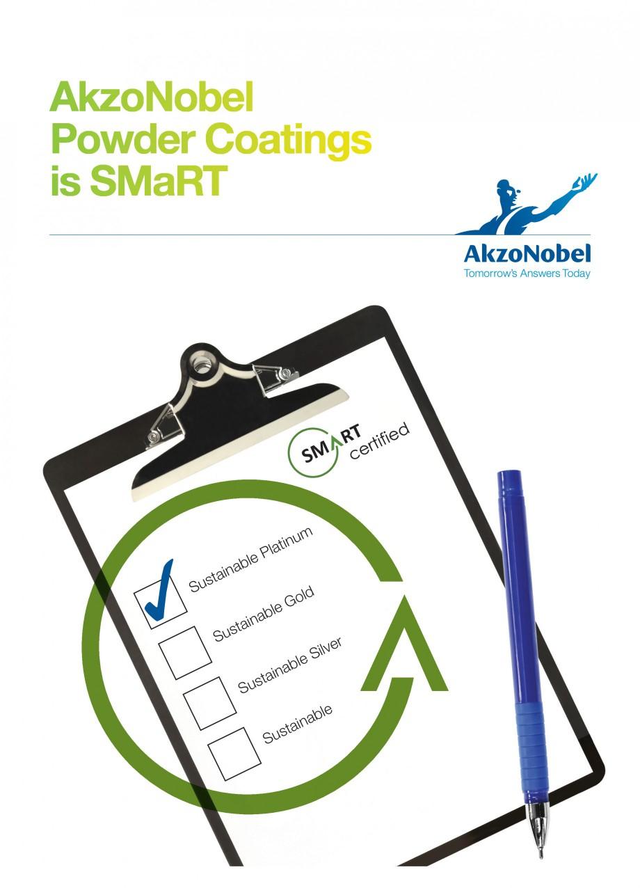 Pagina 1 - Akzo Nobel Powder Coatings - prima companie de vopsele pulberi certificata SMaRT INTERPON...