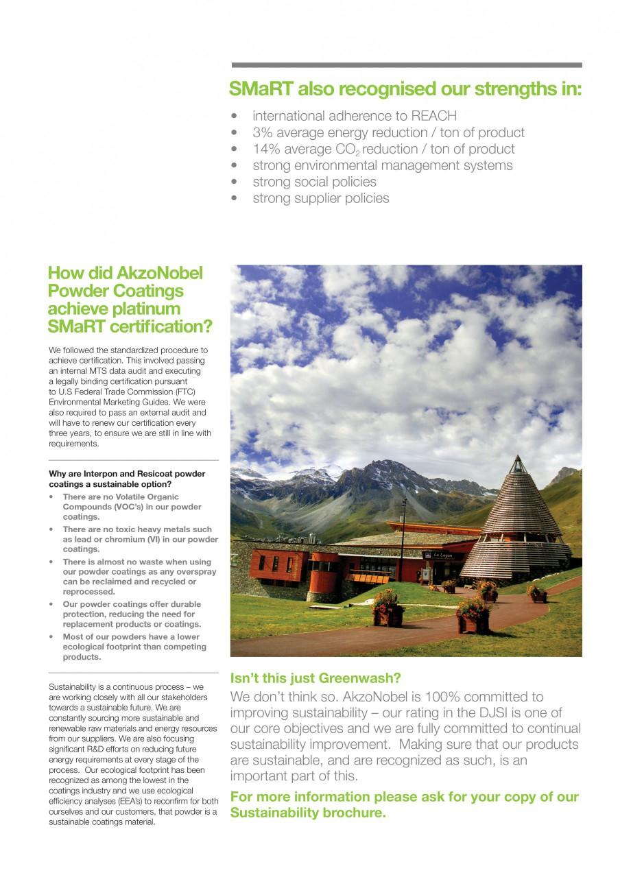 Pagina 3 - Akzo Nobel Powder Coatings - prima companie de vopsele pulberi certificata SMaRT INTERPON...