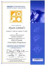 HACCP INTERNATIONAL - Uscatoare de maini DYSON