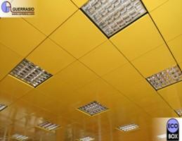 Tavane suspendate casetate Acest tip de tavan se realizeaza din: un sistem structural (la vedere sau ascuns) si un sistem de inchidere (panouri decorative si/sau functionale).
