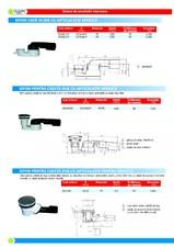 Sifoane de scurgere pentru pardoseala si accesorii TERAPLAST