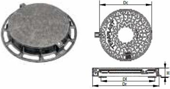 Prezentare produs Capace si gratare din fonta pentru camine de canalizare TERAPLAST - Poza 2
