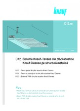 Sisteme de tavane din placi acustice Knauf Cleaneo pe structura matalica KNAUF