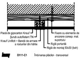 Tavane din placi de gipscarton - schelet de sustinere din lemn - D111 230 KNAUF