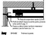 Tavane din placi de gipscarton - schelet de sustinere metalic din CD 60/27 - D112 248 KNAUF - D 11