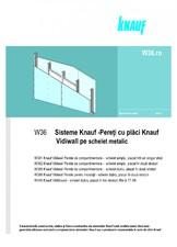 Sisteme de pereti de compartimentare cu placi Vidiwall pe schelet metalic KNAUF