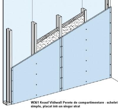 Sisteme de pereti de compartimentare cu placi Vidiwall pe schelet metalic KNAUF - Poza 3