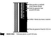 Placare la perete Claneo Acustic cu profil CW spate in spate - W629C 177 KNAUF