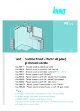 Sisteme pentru placari de pereti si tencuieli uscate KNAUF