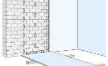 Tencuieli uscate din placi de gipscarton Tencuiala uscata din placi de gipscarton sau termoplaci cu vata minerala sau polistiren Knauf se realizeaza prin lipire, fiind o solutie rapida si eficienta pentru  obtinerea unor suprafete perfect plane, in cazul in care nu exista  abateri mari de planeitate ale peretelui masiv sau nu este necesara  termoizolarea acestuia. Placile de gipscarton se lipesc direct pe peretele masiv cu adezivul Knauf Perlfix,  care se aplica sub forma de turte.