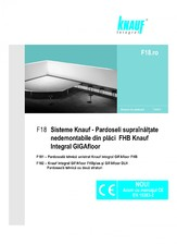 Sisteme de pardoseli suprainaltate nedemontabile din placi GIFAfloor KNAUF