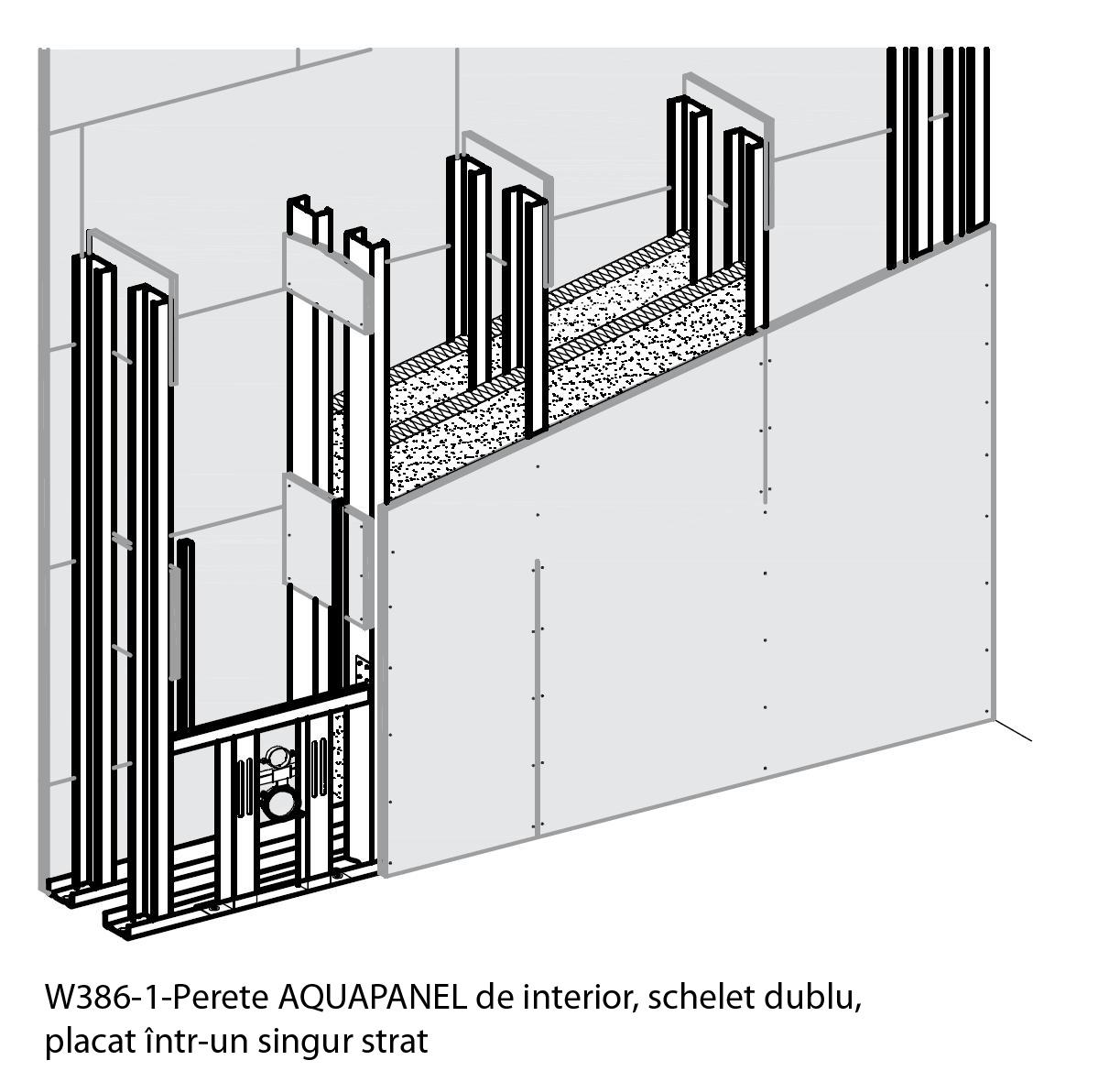 Sisteme de pereti de interior cu placi pe baza de ciment AQUAPANEL AQUAPANEL - Poza 1